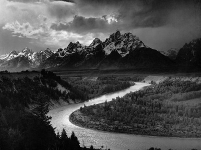 Ansel Adams' famous portrait of the Snake River