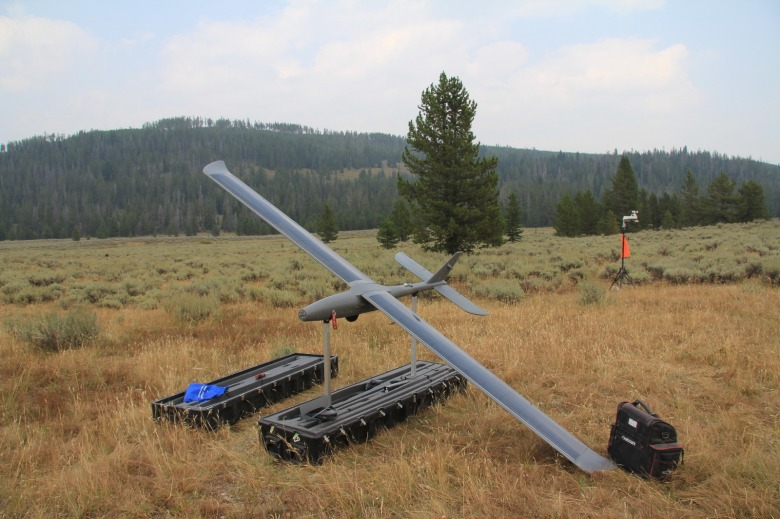 Drones come in all sizes. Photo courtesy US Forest Service Inciweb