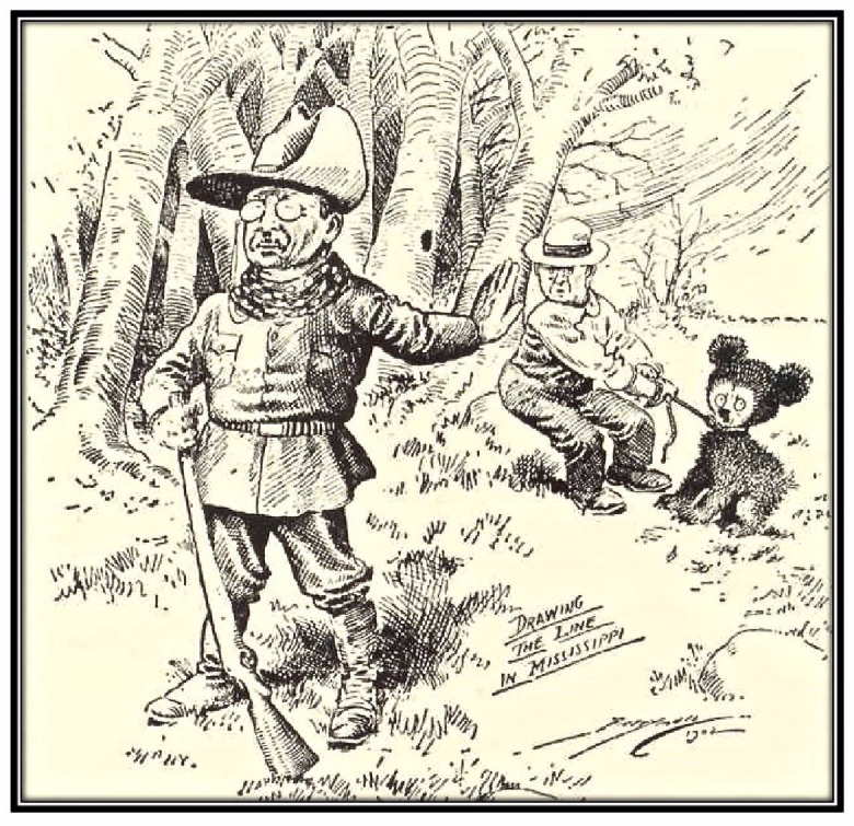 The famous cartoon by Clifford Berryman portraying Theodore Roosevelt as an ethical hunter who believed in fair chase and respect for animals he hunted.  Although he has a less than evolved attitude toward predators, hunting historians today say Roosevelt, as a student of science, would embrace the knowledge that touts their important ecological role. They say he would be opposed to predator-killing contests and be appalled by the practice of running down wolves and coyotes on snowmobiles.