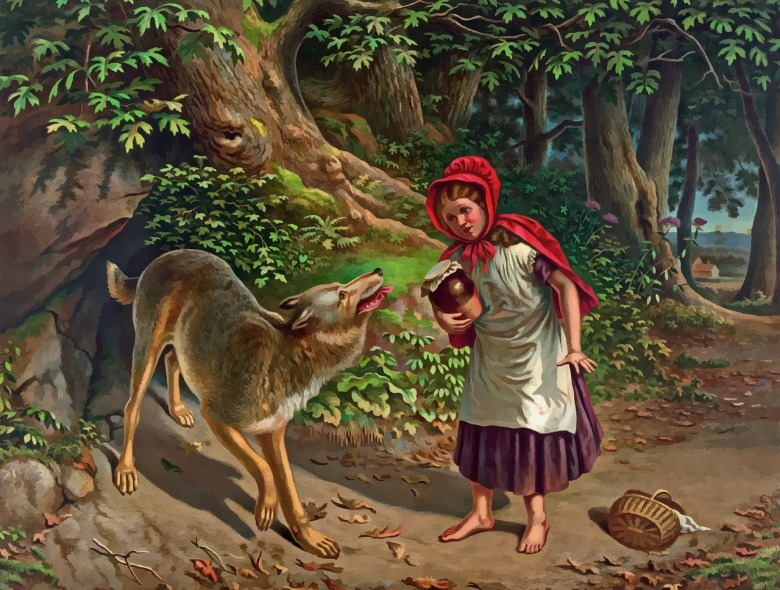 Little Red Riding Hood was brought to North America from the Old World but Red Elk knew different ancient stories about the relationship between people and wolves.