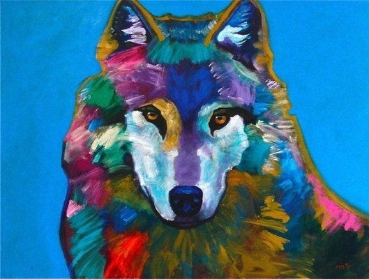 """Young Wolf"" by the late John Nieto (1939-2018/Apache) is counted among the foremost contemporary Western artists of the last half century. He often portrayed wildlife. For more information on his work go to www.ventanafineart.com/john-nieto"