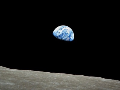 """Earthrise,"" a view from Apollo 8 in 1968."