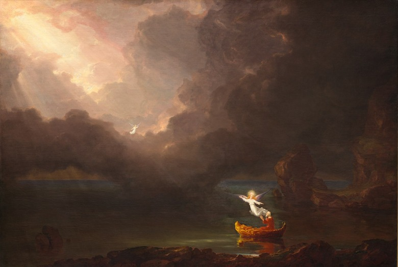 "Thomas Cole's ""The Voyage of Life—Old Age"" in the permanent collection of the National Gallery of Art, Washington DC"