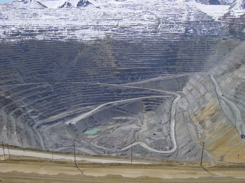 Where does copper wire come from? In the past, when it fueled the first electricity revolution that brought power into all our homes, it was mined in places like Butte, Montana and Bingham Canyon, Utah, pictured here. Bingham Canyon, better known as the Kennecott Copper Mine southwest of Salt Lake City, is the largest man-made excavation in the world.  Copper now figures squarely in the second energy revolution, this one involving the wiring in electric cars being advanced as replacements for gas-burning vehicles. Photo courtesy public domain and Wikimedia Commons.