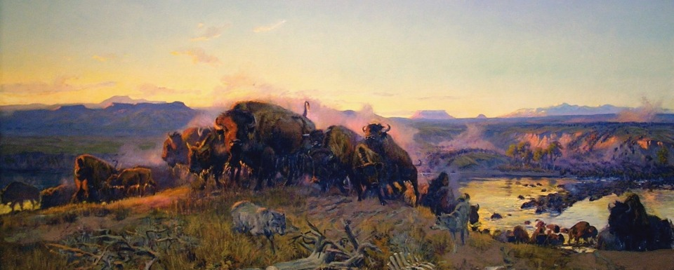 Charles M. Russell's bison masterpiece