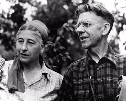 Margaret and Olaus Murie who lived most of their lives in Jackson Hole. Murie was a prominent forerunning elk biologist who helped advance modern ecological thinking and was once president of The Wilderness Society