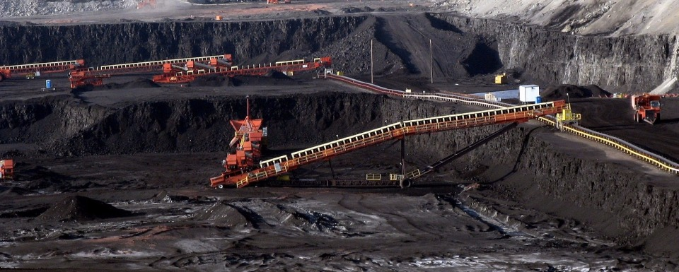 A coal strip-mine outside Gillette