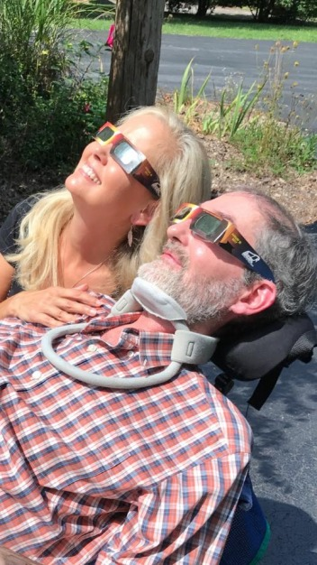 Yochim and friend Michelle Reynolds Gray catch the Great Eclipse in 2017. Photo courtesy Jim Yochim