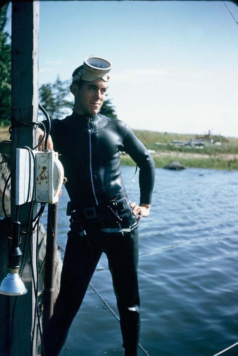 Barrie Gilbert, in his younger days, after diving in Lake Superior and prior to his days researching bears in the West. Photo courtesy Barrie K. Gilbert