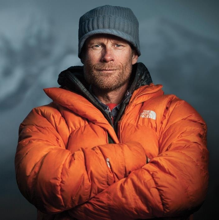 Conrad Anker has made historic ascents and experienced the front lines of planet-wide climate change first-hand.  A self-proclaimed science nerd, one of his passions is understanding the geo-eco-hydrological changes affecting vulnerable people and fragile environments.  Photo courtesy Conrad Anker/The North Face