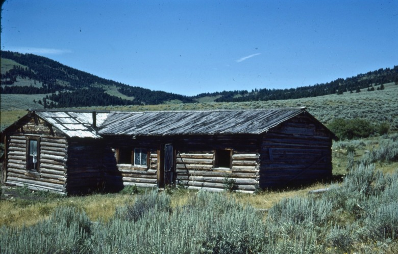 Doig homestead at Sixteen Mile outside of Ringling in the lower Shields Valley.  As Doig noted in his books, beauty alone doesn't put food on the table or feed hungry families. Life in Montana was hard. Photo courtesy MSU Library Arives/Doig Collection