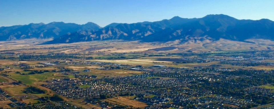 Bozeman from a balloon