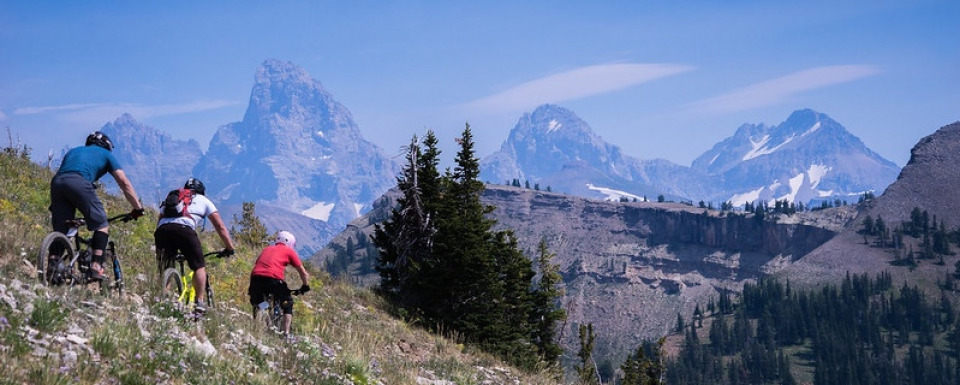 Riding high near the Tetons