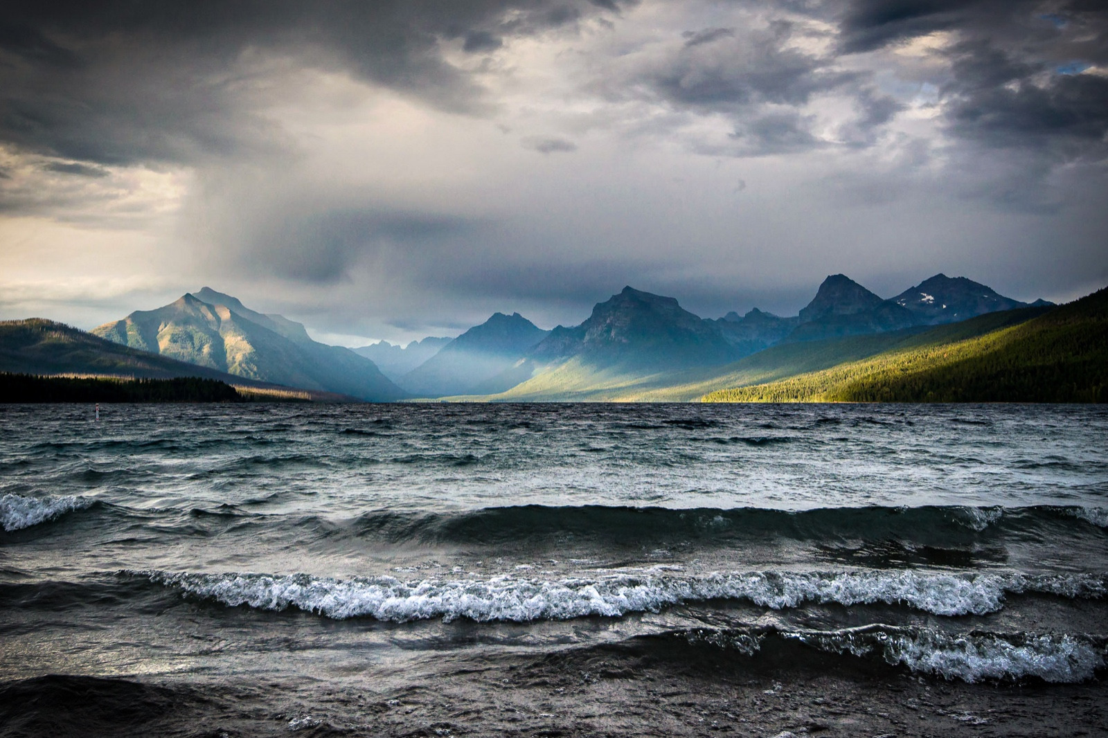 Lake McDonald - Break In The Storm.  Photo courtesy NPS / Tim Rains