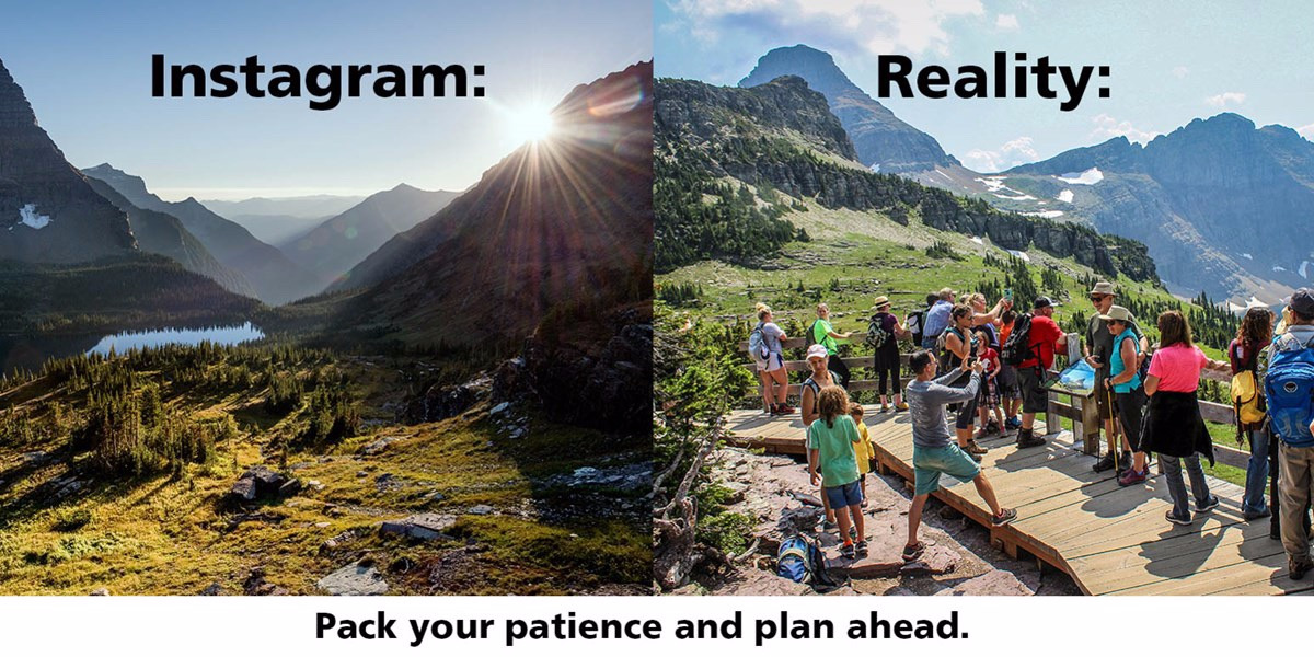This graphic was created by Glacier National Park to prepare visitors for what awaits them. Image courtesy Glacier National Park