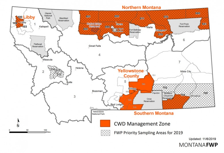 Map courtesy Montana Fish Wildlife and Parks