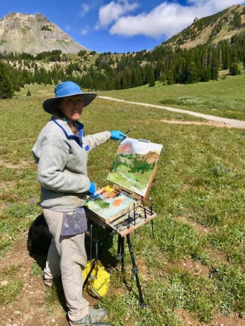 The conservationist/fine artist painting the restored mountain meadows in the once-toxic New World Mining District.