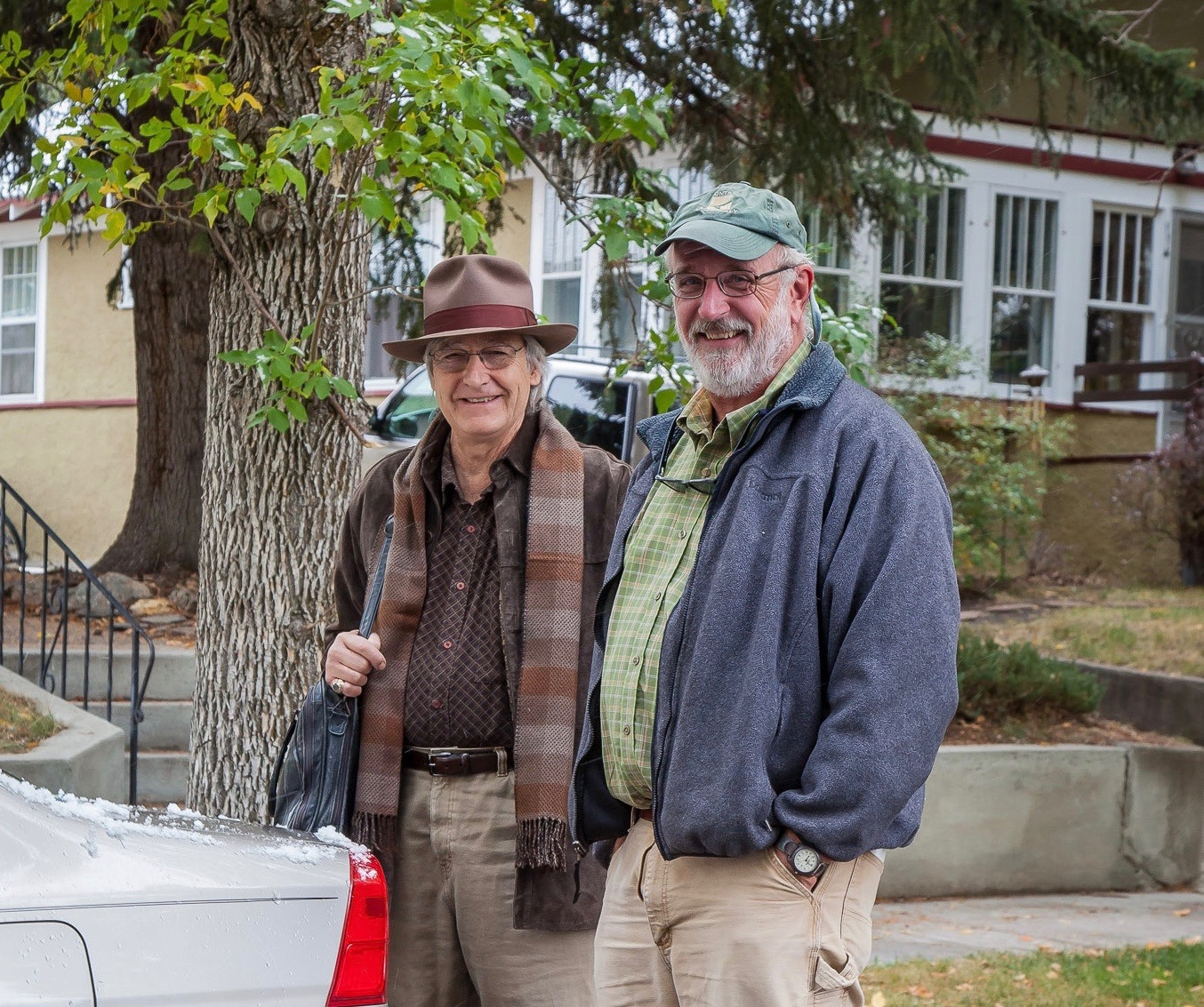 "McMillion, right, with the late great Livingston-based novelist and non-fiction writer William ""Gatz"" Hjortsberg. In recent years Livingston has coped with the painful passing of Hjortsberg, Jim Harrison, Margot Kidder, Peter Fonda and Russell Chatham. Photo courtesy John Zumpano"