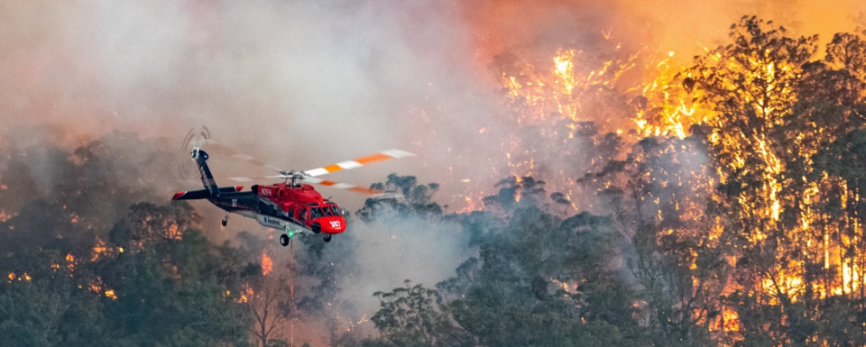 Australia's state of Victoria on fire