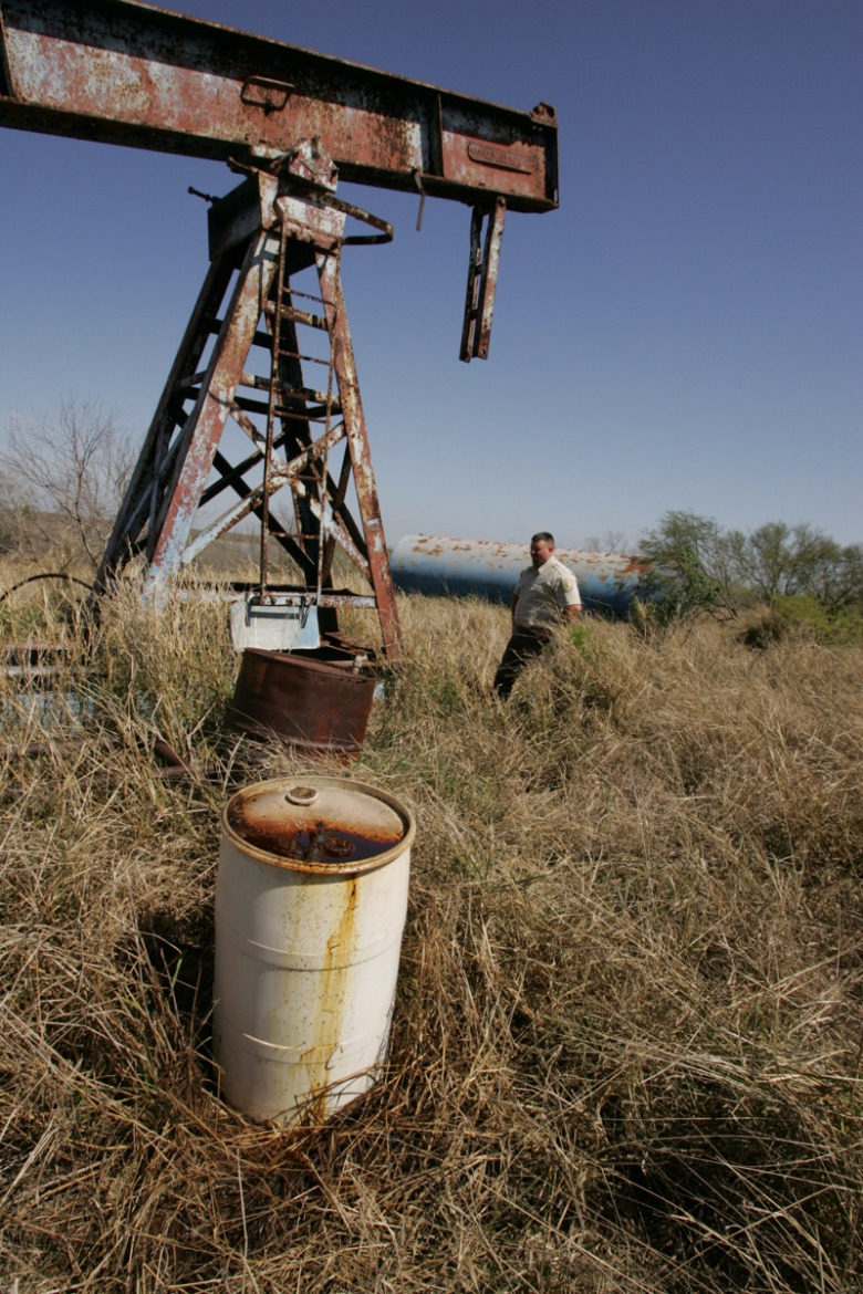An abandoned oil well in the Lower Grande Valley National Wildlife Refuge, Texas. Photo courtesy US Fish and Wildlife Service
