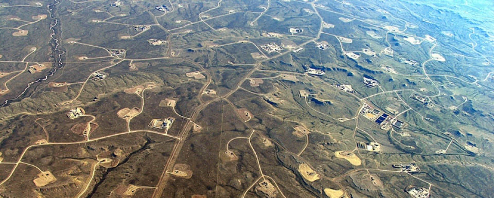 Natural gas development on public land in Wyoming