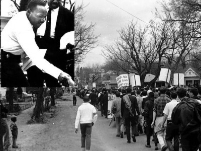 Mike Clark saw Martin Luther King in action