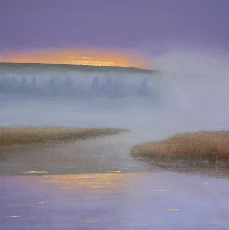 Dawn in Lavender by Dave Hall.  Can you guess which river in Yellowstone National Park?
