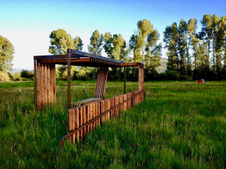 A pavilion built by Remote Studio students for Munger View Park south of Jackson, Wyoming. Photo courtesy Remote Studio