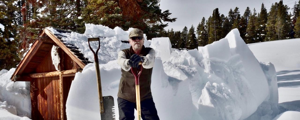 Steve Fuller ready for the big dig out