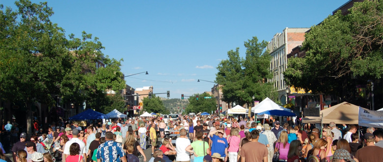 Bozeman residents love to come together and one of the highlights of summer is the annual Sweat Pea Festival, which is staged by a local non-profit. Here is a scene from Sweat Pea's Bite of Bozeman early in August that highlights a week of festivities.