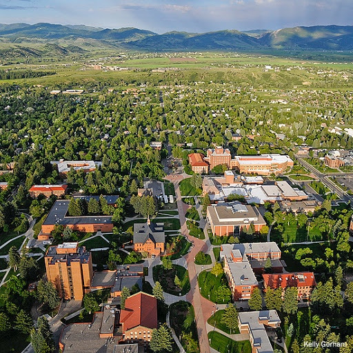 Aerial of Bozeman courtesy MSU/Kelly Gorham