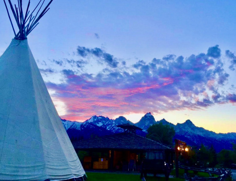 Sunrise comes to Jackson Hole in spring 2020 but as businesspeople and workers around the Greater Yellowstone Ecosystem  know, you can't eat the scenery. The region's nature-based tourist economy is now facing the biggest test of survival in modern times. Photo courtesy Huntley Dornan