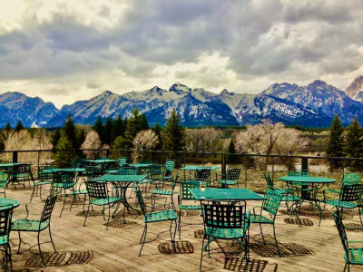 Surreally empty: Dornan's in Grand Teton National Park