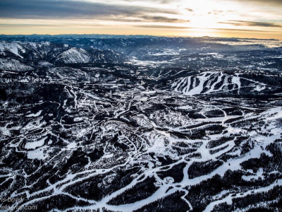 Snow reveals landscape fragmentation at Big Sky