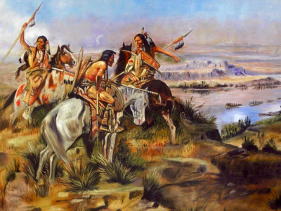 Lewis and Clark heading into indigenous homelands