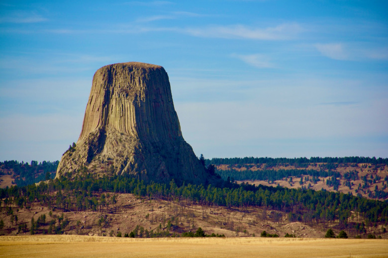 """Bear Lodge"" or ""Devils Tower""? Many place names in the West offer no hint of how those pieces of landscape for referenced by humans for thousands of years.  Photo courtesy National Park Service"