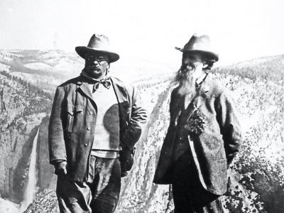 Theodore Roosevelt and John Muir in Yosemite