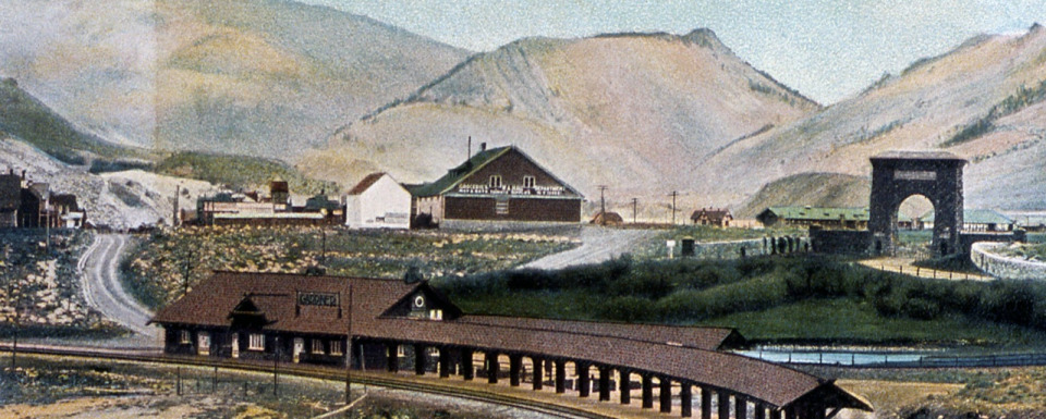 Historic Gardiner, Montana more than a century ago
