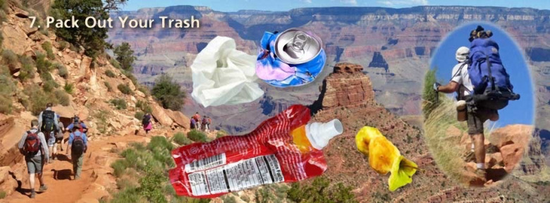 One of the advisories the National Park Service offers to hikers heading into the Grand Canyon. In many national parks and forests, rangers are finding places where used toilet paper and the waste that accompanies it litters the ground.