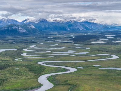 The Sheenjek River flows from ANWR