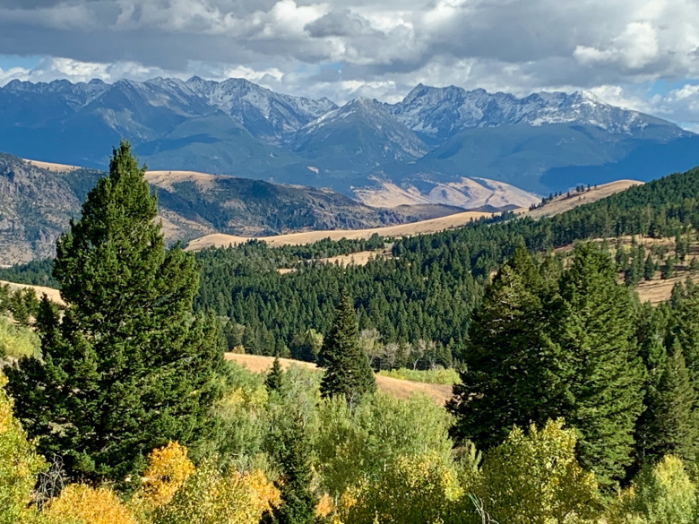 These are the kind of dramatic views that unfold from Mountain Sky Guest Ranch in Paradise Valley, Montana