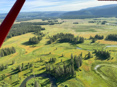 Yellowstone's Bechler from the air