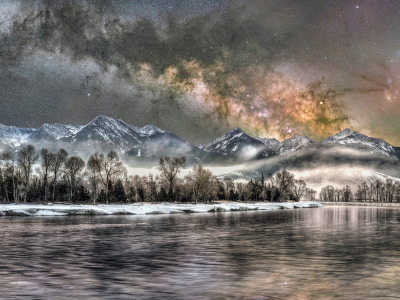 """Cold Night on the Yellowstone"" by Jake Mosher"