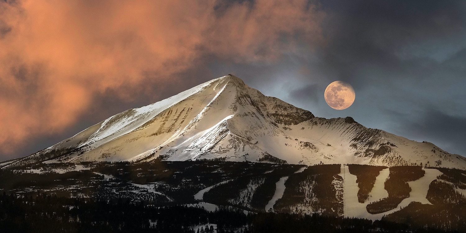 """Moonset Over Lone Peak"" by Jake Mosher"