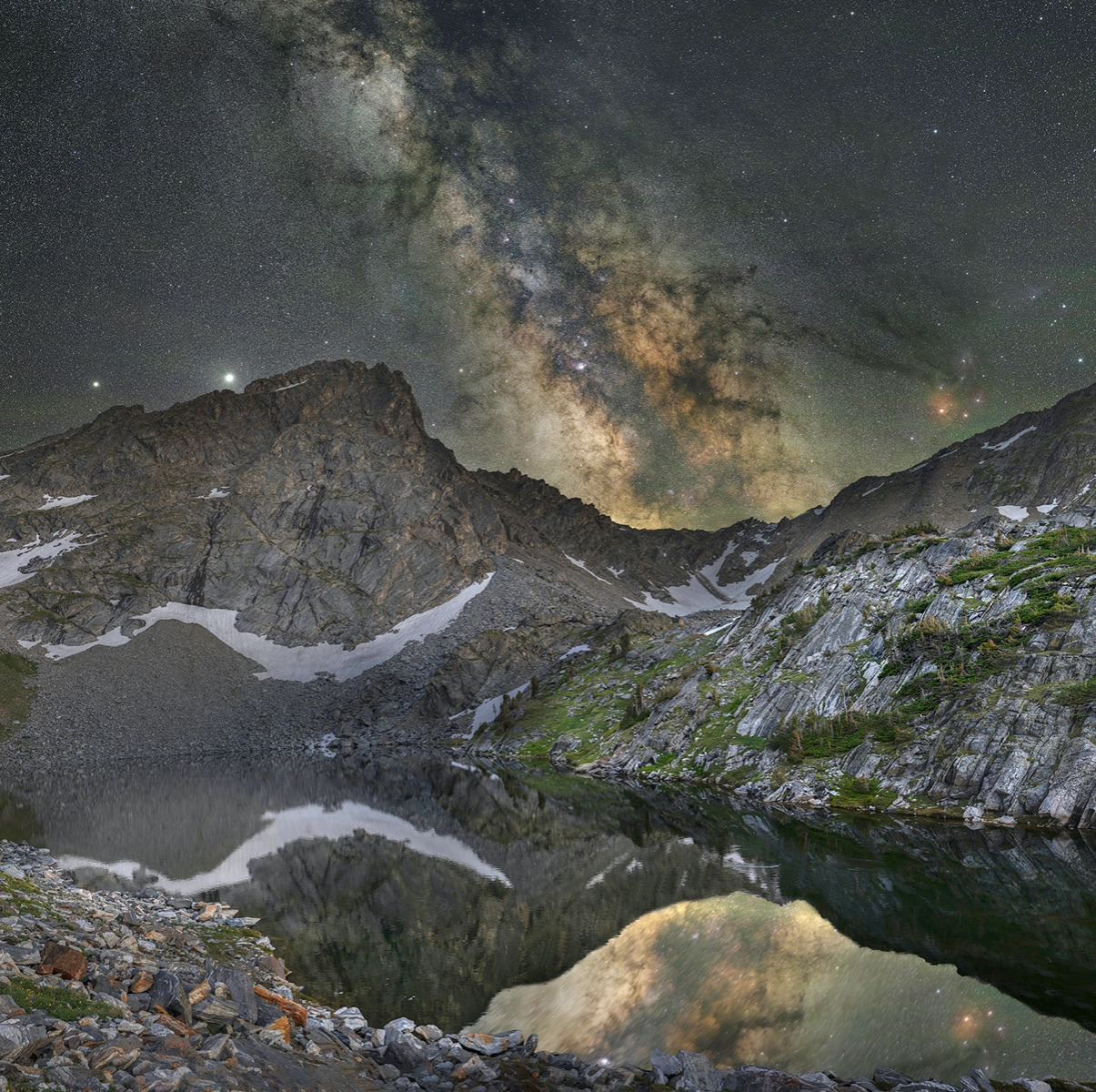 """Beehive Lake at Moonlight"" by Jake Mosher"
