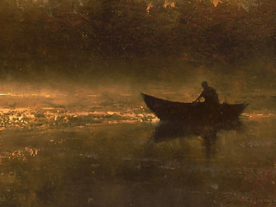 """In the Stillness of Dawn,"" a painting by Brent Cotton"