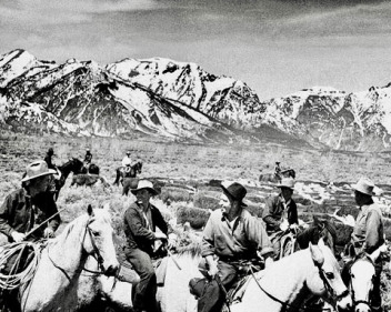 In 1943, Cliff Hansen was joined by Hollywood actor Wallace Beery in staging a revolt against the Jackson Hole Monument, forerunner to Grand Teton National Park. Their civil disobedience involved driving a herd a cattle through the preserve. Photo courtesy NPS