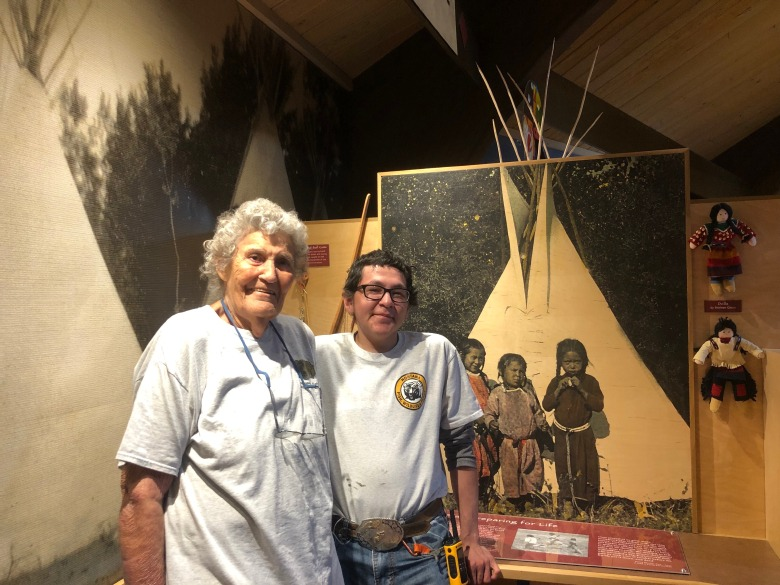 Bernadette Smith volunteers at Chief Plenty Coups Visitor Center.  She is Crow and has lived on Crow Nation her whole life. Photo courtesy reporter Taylar Stagner