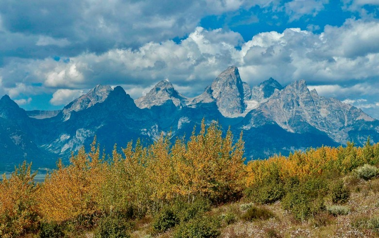 Photo of Tetons in Autumn by Susan Marsh